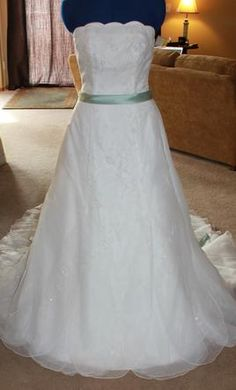 New With Tags Monique Luo Wedding Dress 12040008, Size 8    Get a designer gown for (much!) less on PreOwnedWeddingDresses.com