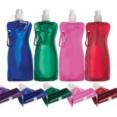 16 oz Bend-A-Bottle-Quench your thirst with this unique water bottle, available in a variety of fun colors. Fill it up with your favorite beverage, then roll-up and tuck away for convenience when it's empty. Perfect for outdoor sports such as hiking and biking, and those on-the-go!