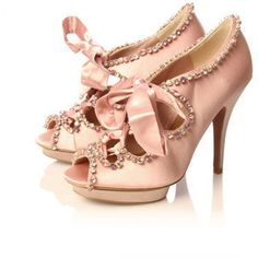 Marie Antoinette heels..would like them without the bows