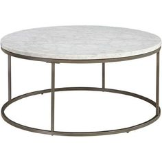 Latitude Run Alfreda Round Coffee Table Top Finish: White Marble