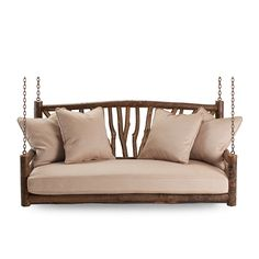 Rustic Porch Swing #1554 (shown in Natural Finish) by La Lune Collection