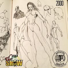 Sketchbook Page 471 This may or may not become a character in #theshowcomic. The idea came to me in 2000 but I could never polish or make her arms work effectively. Or at least visually appealing. I did know I wanted it to be female and have bat-like arms/wings. I also wanted her to be able to fight not just be isolated to just flight. She was supposed to be really caring and gentle but when it came to fighting a power house. I wanted her to be agile enough on land as in the air. And she was…