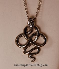 The Lucius Malfoy, silver twisted snake knot pendant necklace, by Kat Goetting (The Spiny Serpent) as inspiration for my snake tattoo. Stylish Jewelry, Cute Jewelry, Jewelry Accessories, Snake Knot, Harry Potter Jewelry, Snake Jewelry, Accesorios Casual, Slytherin, Hogwarts