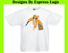 Mr Stampy Cat face Stampylongnose Children Boy Girl Unisex White T Shirt Gift 62 Kids' Clothes, Shoes & Accs.