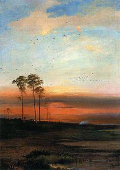Sunset, Alexei Savrasov (1870)