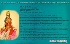 Know the meaning of sanskrit slok of Goddess Gayatri - 'Pranayama Mantra'