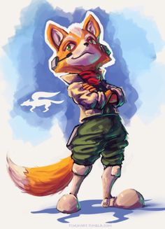 Fox McCloud Finally back to painting! And I'd be lying if I said I wasn't ultra stoked for a new Starfox Game.More: Sketches / Fan Art / Creature Design
