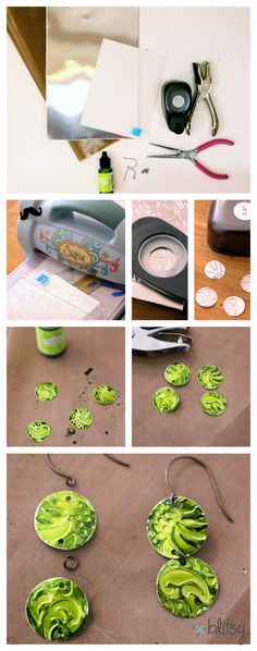 Create your own Embossed Metal Earrings that are SUPER light weight! #DIY #Blisty