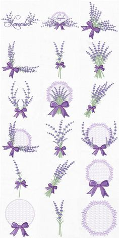 Embroidery Library Applique every Embroidery Designs Etsy into Embroidery Hoop Leaves Marks Hand Embroidery Stitches, Hand Embroidery Designs, Ribbon Embroidery, Cross Stitch Embroidery, Embroidery Patterns, Lavender Crafts, Lavender Bags, Lavender Sachets, Lavander