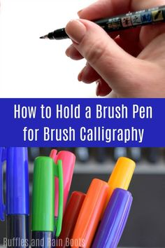 Do you want to make those amazing brush calligraphy cards you see on Pinterest? If you're interested in starting brush lettering, start here to learn hand lettering the easy way. Brush Pen Calligraphy, Calligraphy Cards, Brush Lettering, Creative Lettering, Calligraphy Alphabet, Creative Writing, Creative Art, Hand Lettering For Beginners, Calligraphy For Beginners