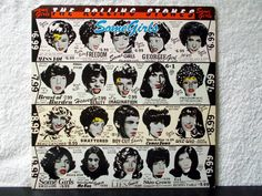 The Rolling Stones Some Girls. 1978 vinyl LP 33. Original die cut cover with celebrity faces. Miss You, Beast Of Burden, Far Away Eyes... by AbqArtistry on Etsy