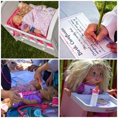 My little Madie loves baby dolls.  She always has a doll in tow.  So I knew this had to be the theme for her 4th birthday party.      The...