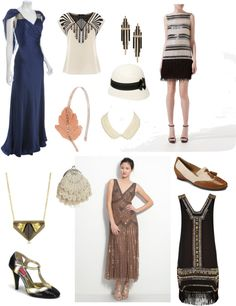 This image represents the glamorous clothing that the women in the 1920's time period would wear to formal events such as Gatsby's lavish parties.