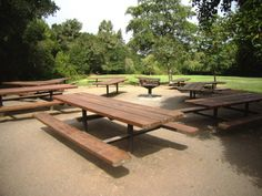 TIL: Padre Picnic Area (150) - ten 10-ft. picnic tables, two 10-ft. serving tables, one large group BBQ, and one drinking fountain with spigot. No vehicle access. The parking lot is adjacent to the site and there are flush toilets nearby. Generators and Interactive Play Equipment are allowed with a permit. Padre is not reservable between November 1st and March 31st.