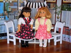 Jinjia Mixed Goods: American Girl Dolls with an Asian Flair: 1940s Valentine's Day Jumpers