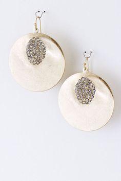 Golden Crystal Raeleen Earrings //