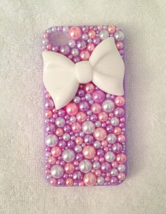 Bow & Pearls iPhone 4/4s Case by acrozier7 on Etsy, $18.00