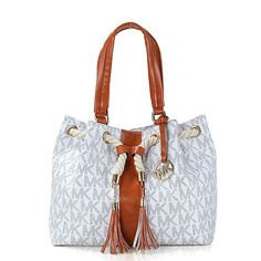 Welcome To Our Michael Kors Gathered Logo Medium White Totes Online Store
