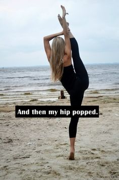 It's a dancer thing