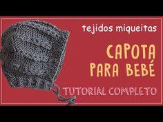 Tutorial I Capota de punto para bebés I cucaditasdesaluta - YouTube