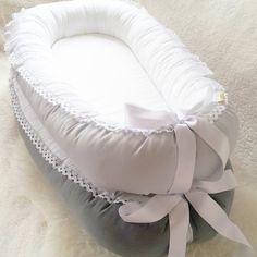 Light grey Lace and Satin ribbon Babynest baby door BelisaBrand