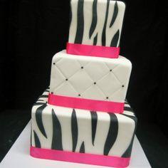 zebra. pink & black.