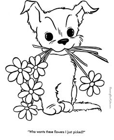 Free Printable Cute Puppy Coloring Pictures Of Dogs Are Fun For Kids