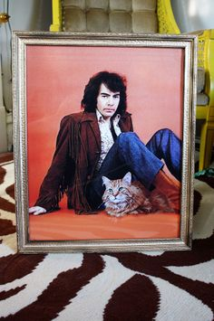 Hilarious.  This gal photoshopped her cat into a portrait of Neil Diamond, then turned it into a canvas.  Oh, the possibilities!