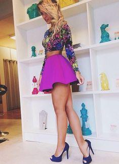 top con falda a base hermoso .°