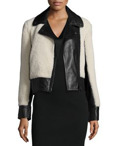 1ee77d6364a TAWNV Rag   Bone Billie Leather   Lamb Fur Jacket