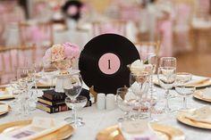 album record centerpiece wedding decor - Google Search
