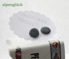 Ohrstecker - ohrstecker fluss kiesel grau natur ✿ alpenglück - ein Designerstück von Alpenglueck-Andrea bei DaWanda