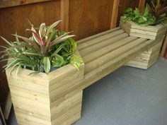 2 Person Hexagonal Planter Bench