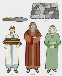 Flannel board figurines for old, new BOM and church history. Print, cut and laminate.