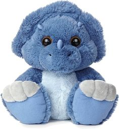 Toughie Triceratops Dinosaur Taddle Toes Stuffed Animal by Aurora