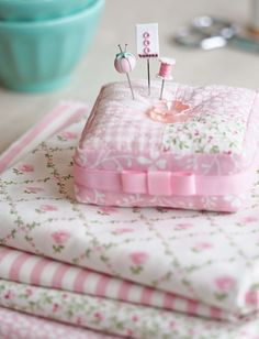 Dainty little pink pincushion.