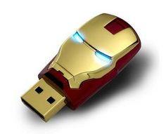 Protege todos tus ficheros con el núcleo de Iron Man, el superhéroe creado por Stan Lee para Marvel a principios de la década de los 60. Los ojos son LEDs