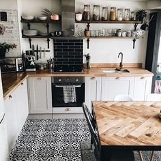 "1,138 Likes, 8 Comments - Interior & More (@interiormilk) on Instagram: ""Kitchen Talk ✨✨ @hygge_for_home ✨✨"""