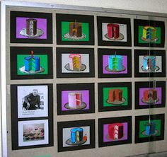 Grade 4. Wayne Thiebaud - oil pastels  tints and shades to create 3D effect