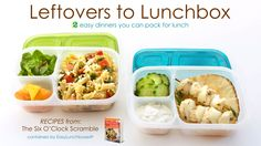 Leftovers to Lunchbox - 2 easy dinner recipes you can pack for lunch