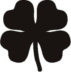 Digital Printable Four Leaf Clover Graphic Lucky Download ...