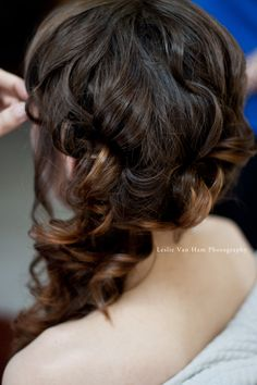 Side Hair Gillers wedding