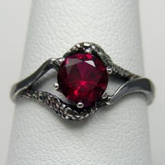 Gothic Jewelry  Gothic Ring  Blood Red by LabCreatedGemJewelry  So beautiful! I love the look of this ring!