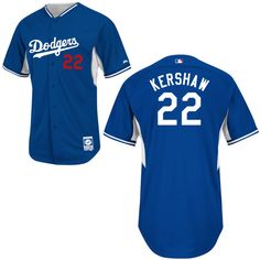 69a614529b6 Men s Replica - Majestic Los Angeles Dodgers  22 Clayton Kershaw Blue BP Cool  Base Jersey