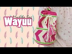 How to Crochet Wayuu Bag Colombia Tutorial Crochet Bag Tutorials, Crochet Videos, Crochet Projects, Cute Crochet, Knit Crochet, Mochila Crochet, Crochet Patron, Tapestry Crochet, Crochet Handbags