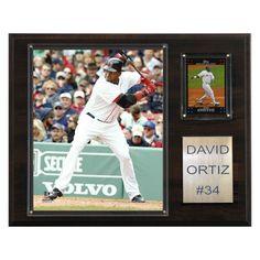 MLB 12 x 15 in. David Ortiz Boston Red Sox Player Plaque - 1215ORTIZ