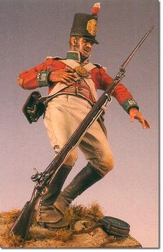 24th Foot-This excellent model by Bill Horan illustrates how a soldier of the 24th would have looked at the battle of Talavera on 28th July 1809.