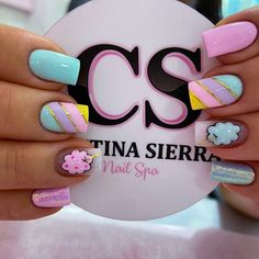 Coffen Nails, Love Nails, Pretty Nails, Acrylic Nails, Cute Nails For Fall, Semi Permanente, Nail Games, Square Nails, Nail Spa