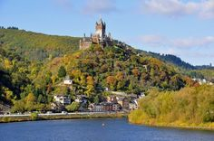 The Reichsburg Castle in Cochem was built around 1000 by a palatinate count, and later changed hands when an emperor pawned it to pay for his coronation. It was nearly destroyed in the 17th century when French King Louis XIV invaded the region. The castle was rebuilt in Neo-Gothic style. Sitting on a hill overlooking the Moselle River, the castle has an impressive display of Renaissance and Baroque furniture.