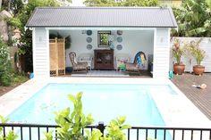 GEORGICA POND: Love the pool cabana idea